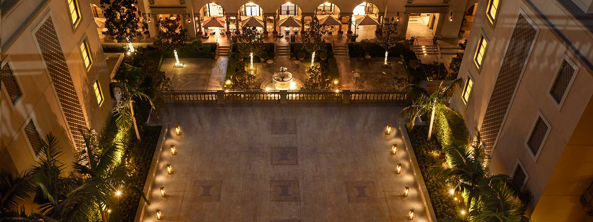 Bird's eye view of the spacious Terrace looking down to Beverly Canon Gardens