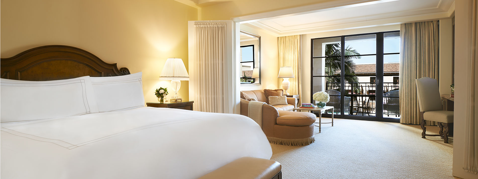 Executive Suite bedroom and living room view