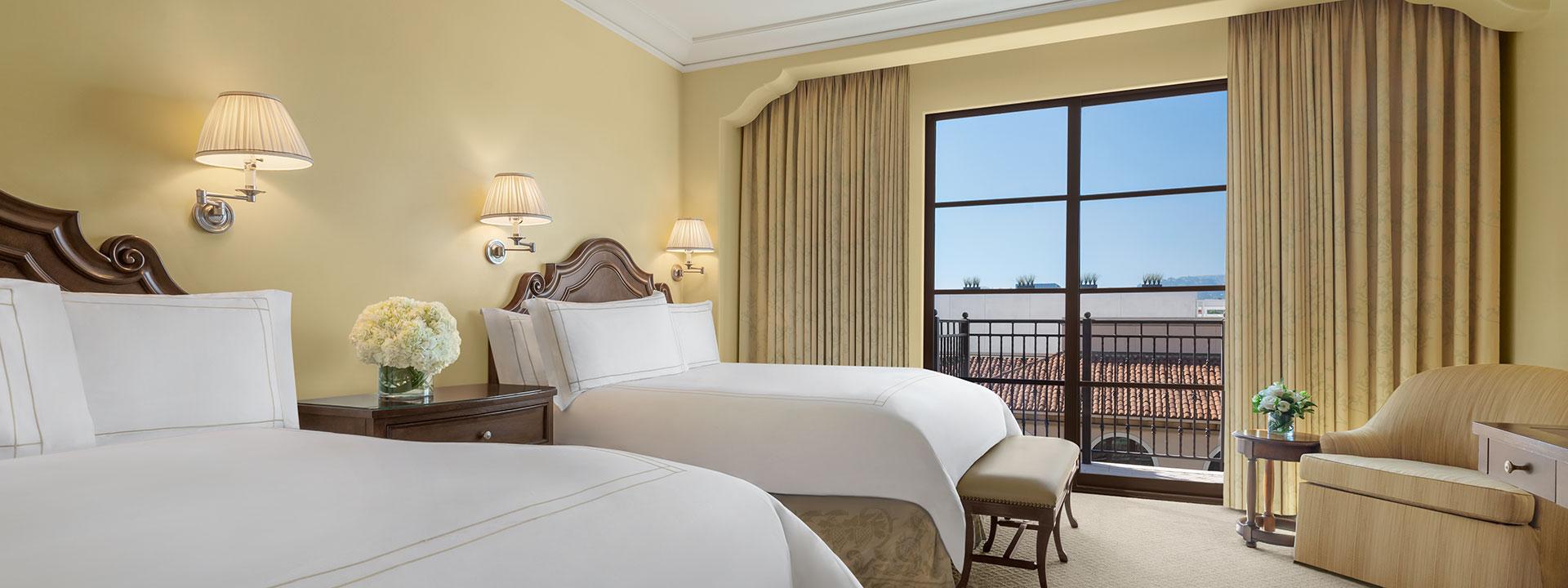 Garden Terrace Two Queen Room Accessible bedroom view
