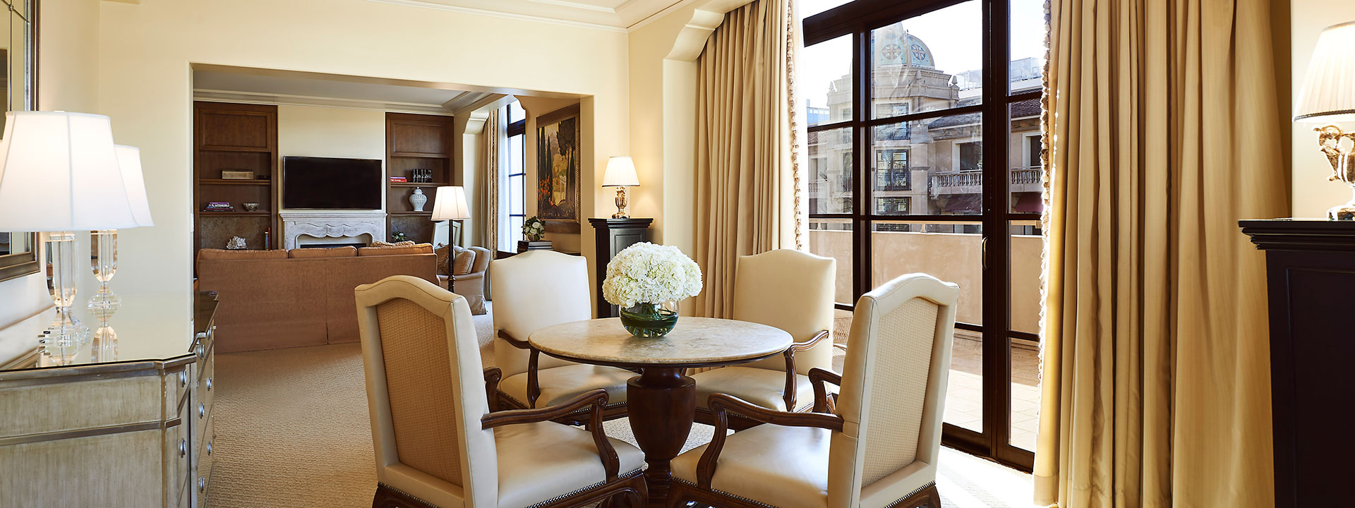 Grand Garden Terrace Suite living and dining room view