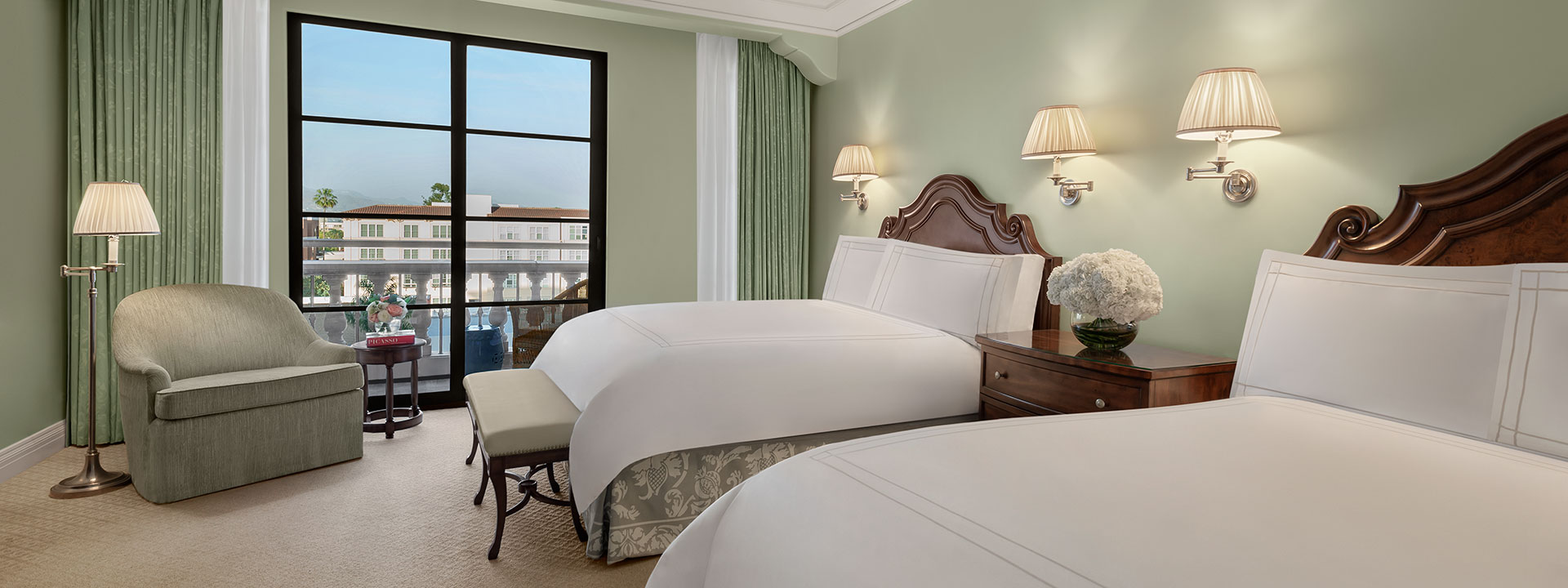 Premier Balcony Two Queen Room bedroom view