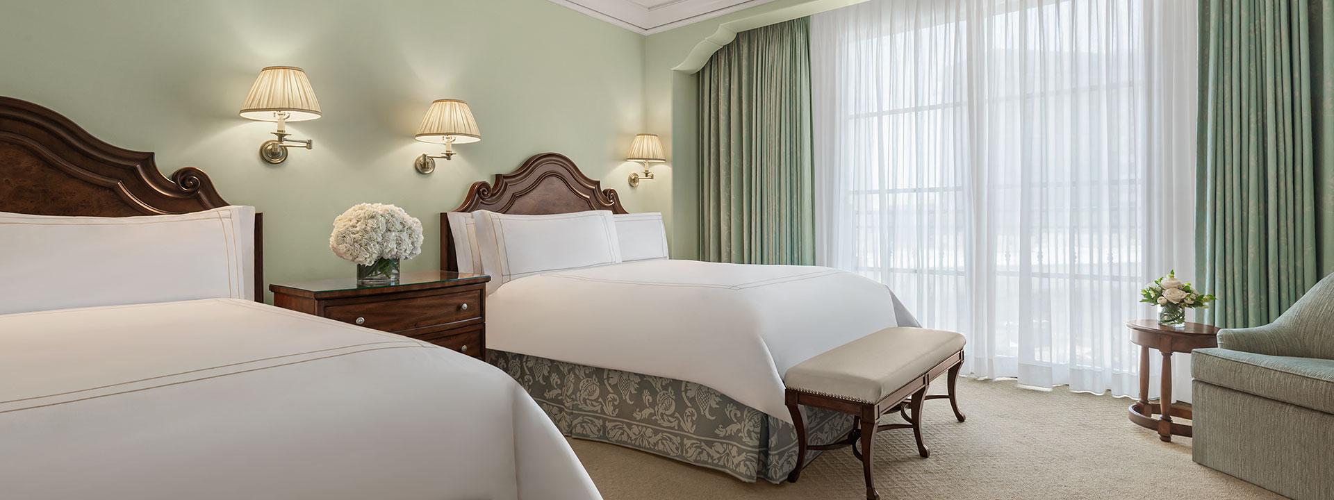 Premier Two Queen Room bedroom view