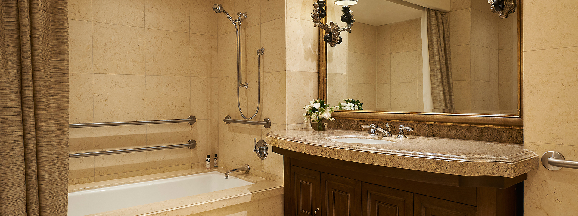 Accessible ornate bathroom