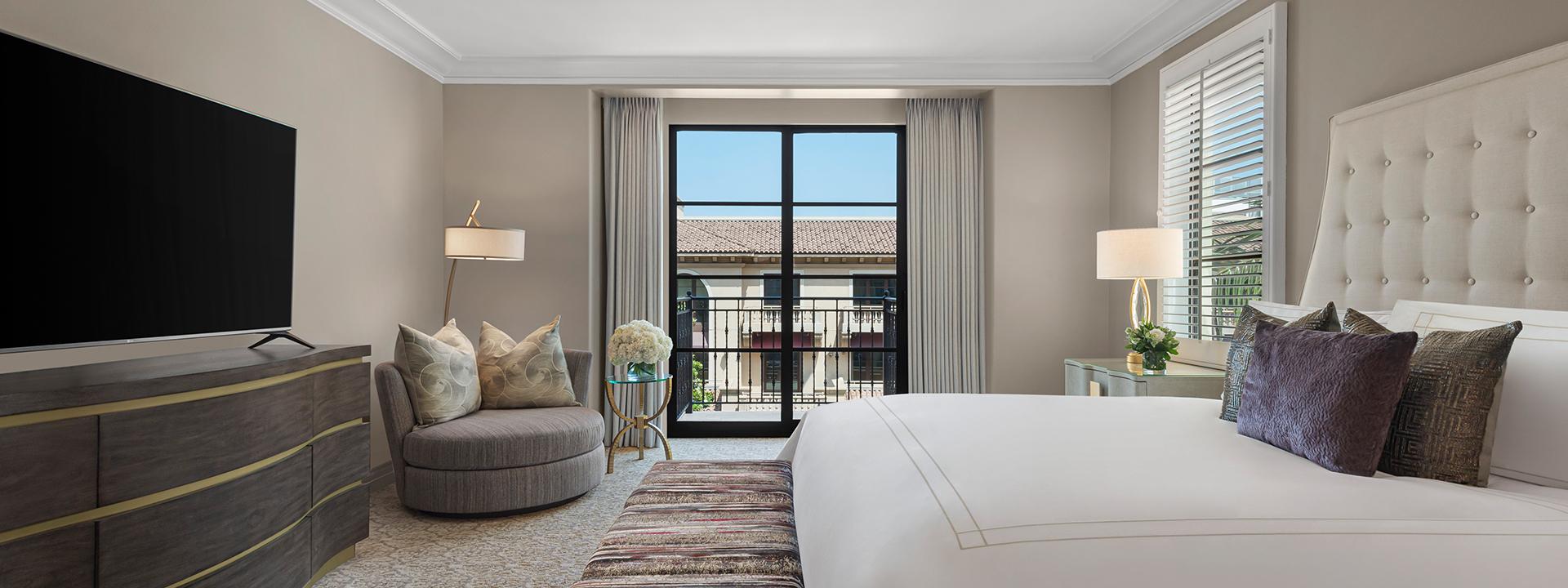Garden Terrace Suite bedroom view